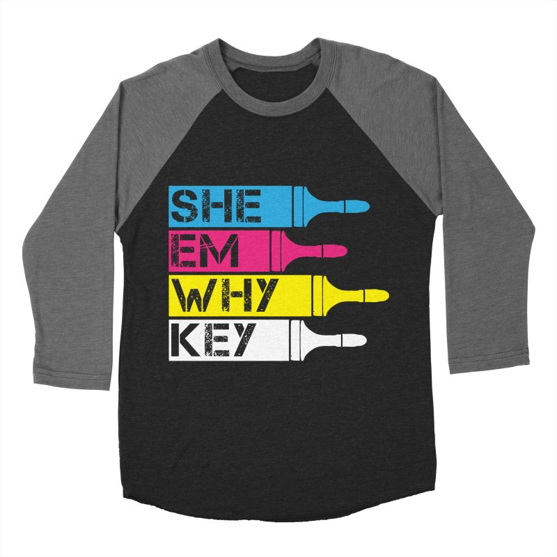CMYK Men's Baseball Triblend T-Shirt by robikucluk's Artist Shop
