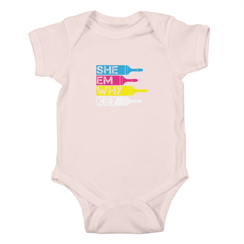 CMYK Kids Baby Bodysuit by robikucluk's Artist Shop