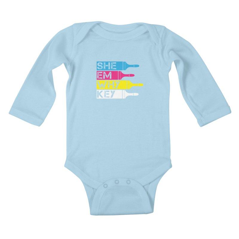 CMYK Kids Baby Longsleeve Bodysuit by robikucluk's Artist Shop