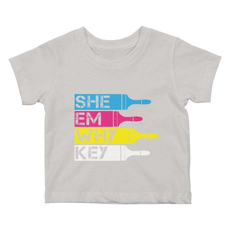 CMYK Kids Baby T-Shirt by robikucluk's Artist Shop