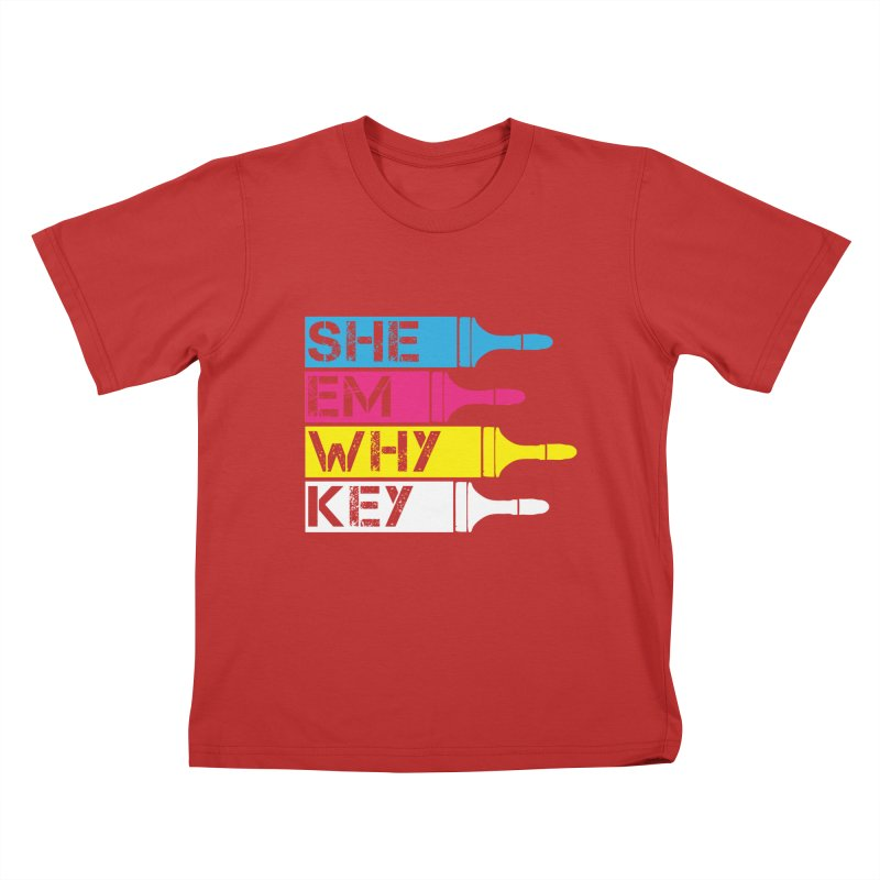 CMYK Kids T-shirt by robikucluk's Artist Shop