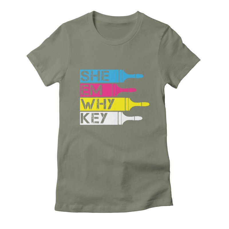 CMYK Women's Fitted T-Shirt by robikucluk's Artist Shop