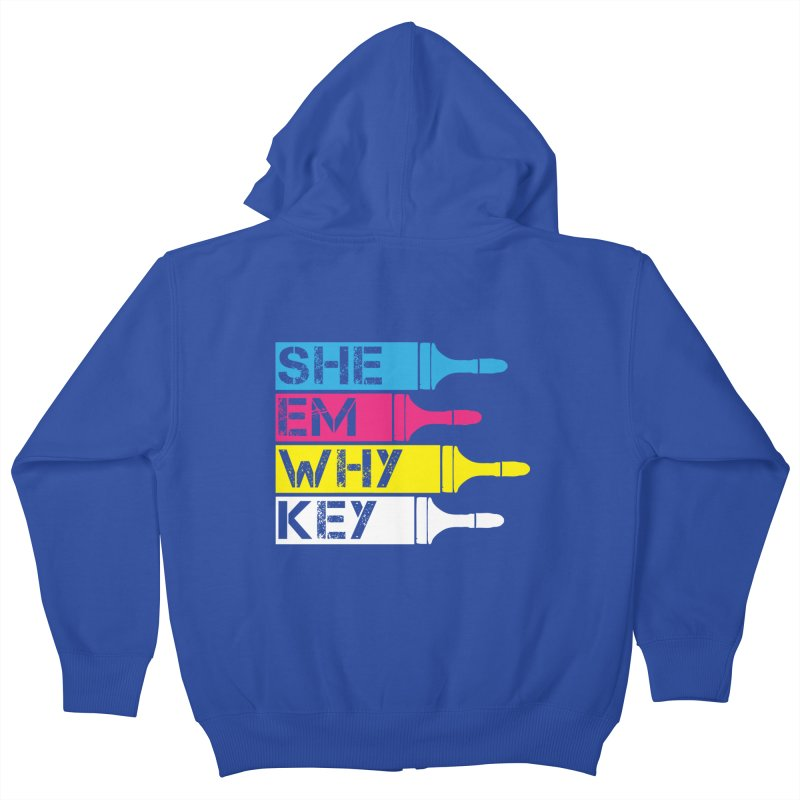CMYK Kids Zip-Up Hoody by robikucluk's Artist Shop