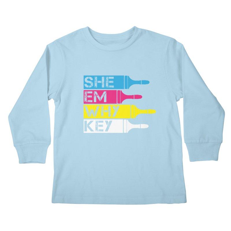 CMYK Kids Longsleeve T-Shirt by robikucluk's Artist Shop