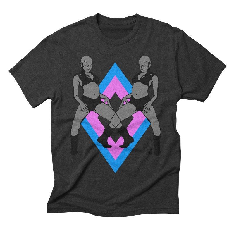 Butterfly Twins Blue Men's Triblend T-shirt by Robin Clare Art T's