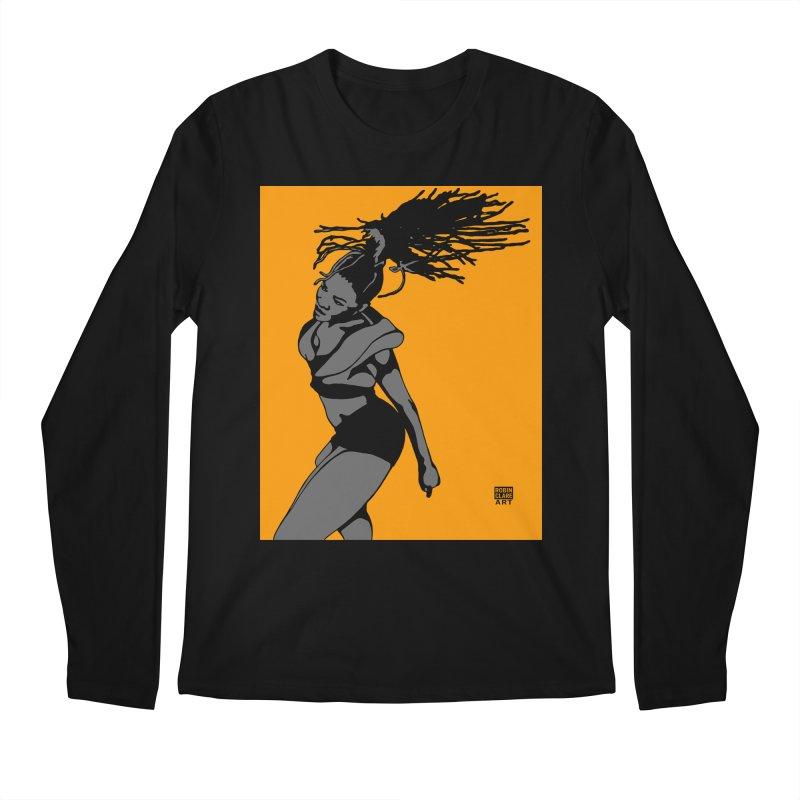 Dutty Wine on Orange Men's Longsleeve T-Shirt by Robin Clare Art T's