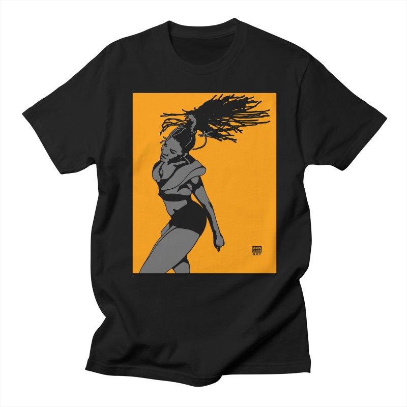 Dutty Wine on Orange Men's T-shirt by Robin Clare Art T's