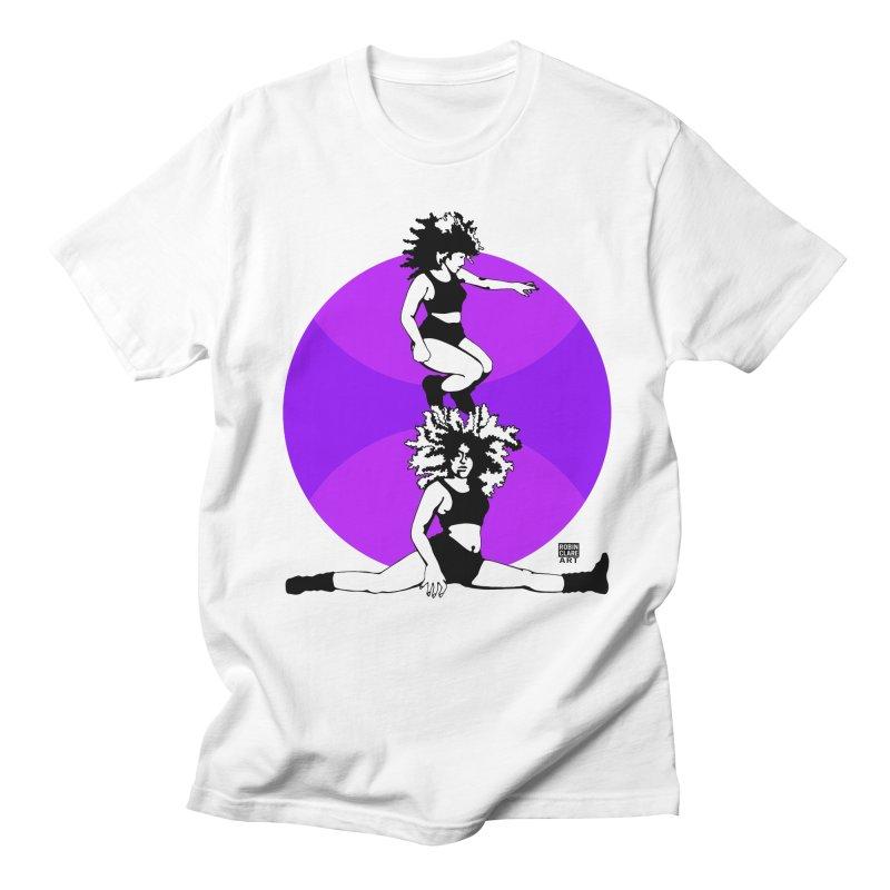 Split Purple Men's T-shirt by Robin Clare Art T's