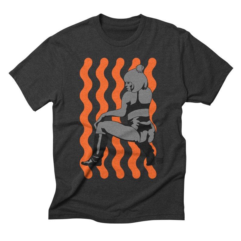 Wine Up Orange Men's Triblend T-shirt by Robin Clare Art T's