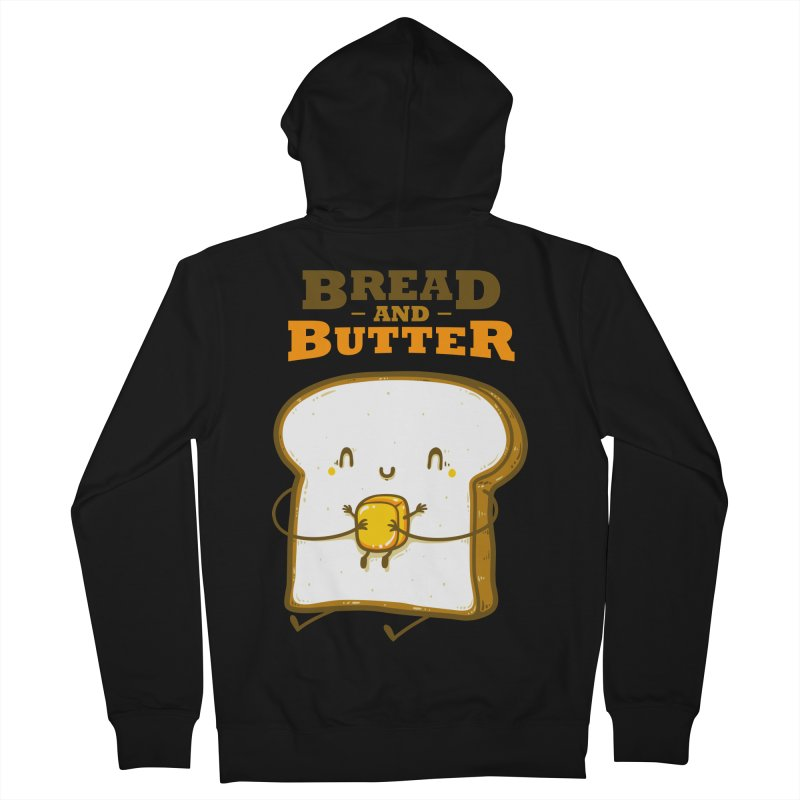 Bread and Butter Men's French Terry Zip-Up Hoody by roborat's Artist Shop