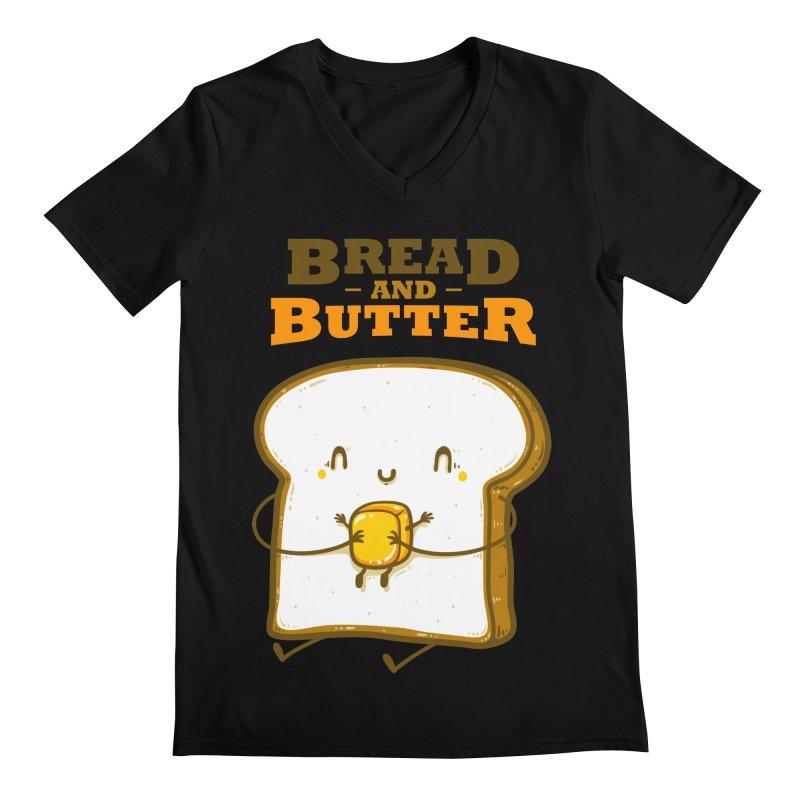Bread and Butter Men's Regular V-Neck by roborat's Artist Shop