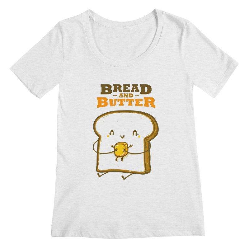 Bread and Butter Women's Regular Scoop Neck by roborat's Artist Shop