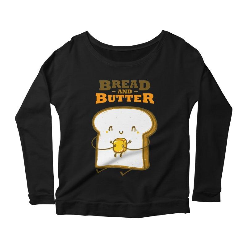 Bread and Butter Women's Scoop Neck Longsleeve T-Shirt by roborat's Artist Shop