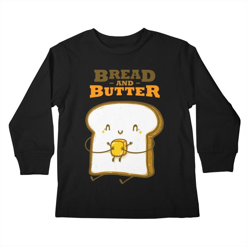 Bread and Butter Kids Longsleeve T-Shirt by roborat's Artist Shop