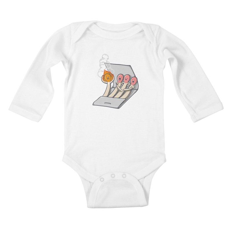 Divided we stand Kids Baby Longsleeve Bodysuit by roborat's Artist Shop