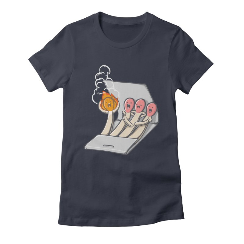 Divided we stand Women's Fitted T-Shirt by roborat's Artist Shop