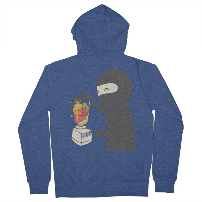 Fruit Ninja Men's French Terry Zip-Up Hoody by roborat's Artist Shop
