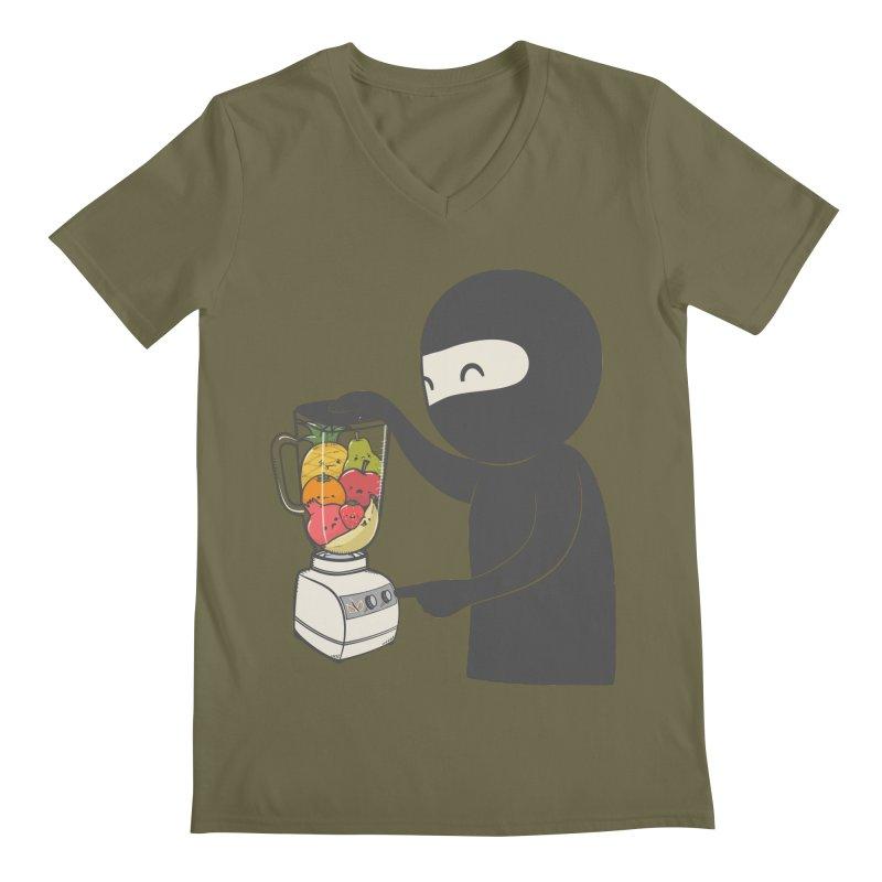 Fruit Ninja Men's V-Neck by roborat's Artist Shop