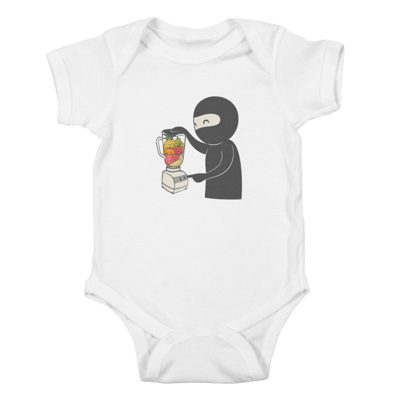 Fruit Ninja Kids Baby Bodysuit by roborat's Artist Shop