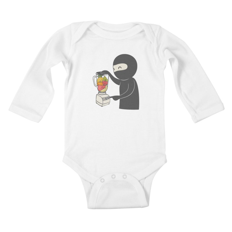 Fruit Ninja Kids Baby Longsleeve Bodysuit by roborat's Artist Shop