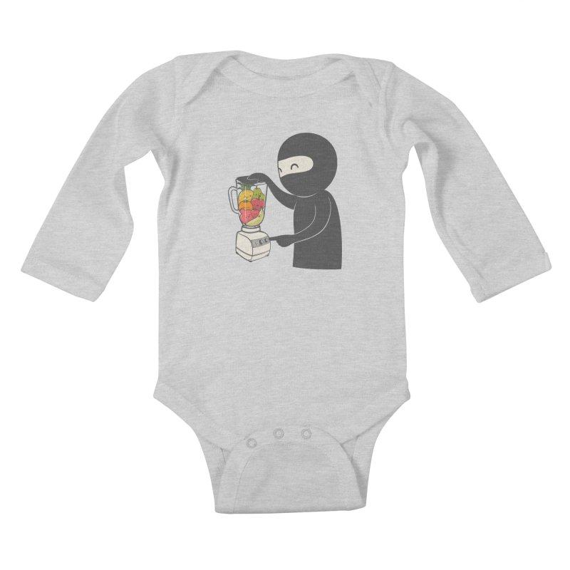 Fruit Ninja Kids Baby Longsleeve Bodysuit by roborat's Artist Shop