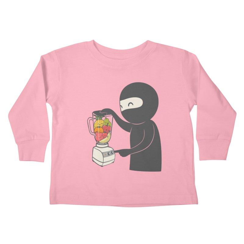 Fruit Ninja Kids Toddler Longsleeve T-Shirt by roborat's Artist Shop