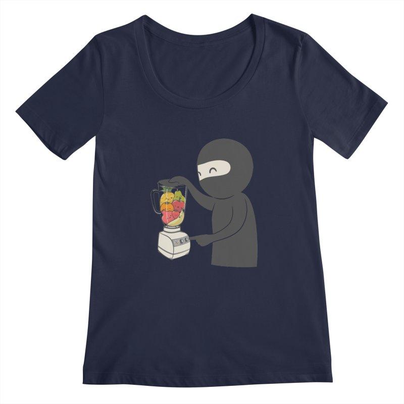 Fruit Ninja Women's Regular Scoop Neck by roborat's Artist Shop