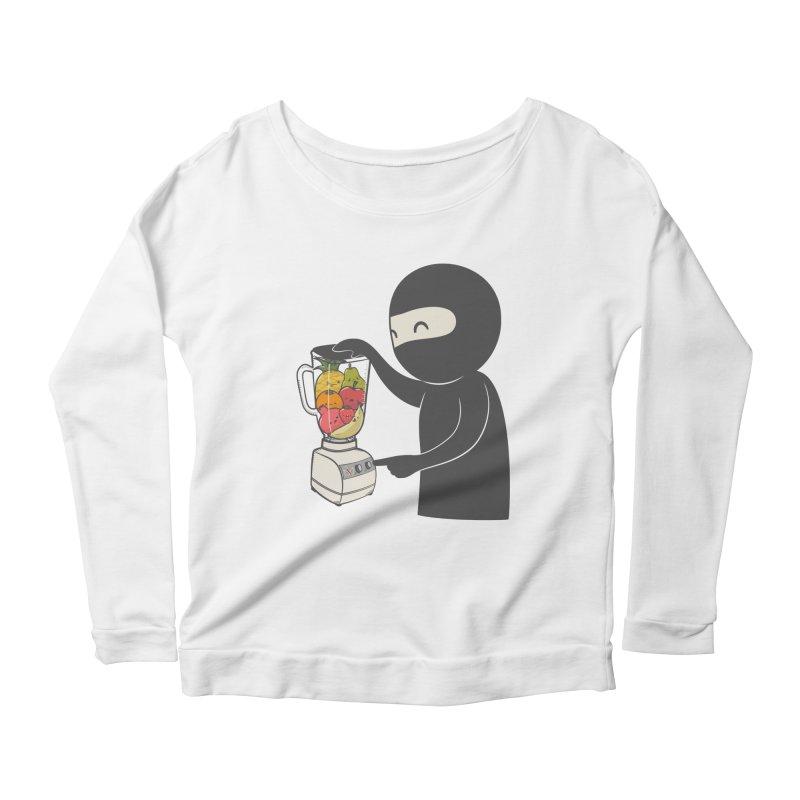 Fruit Ninja Women's Scoop Neck Longsleeve T-Shirt by roborat's Artist Shop