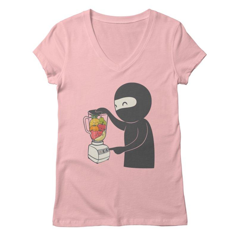 Fruit Ninja Women's Regular V-Neck by roborat's Artist Shop