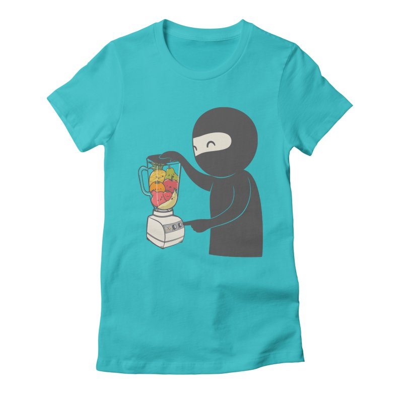 Fruit Ninja Women's Fitted T-Shirt by roborat's Artist Shop