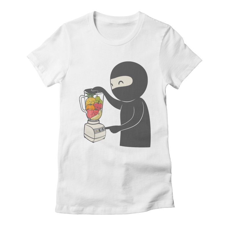 Fruit Ninja Women's Fitted T-Shirt by roborat's Artist Shop