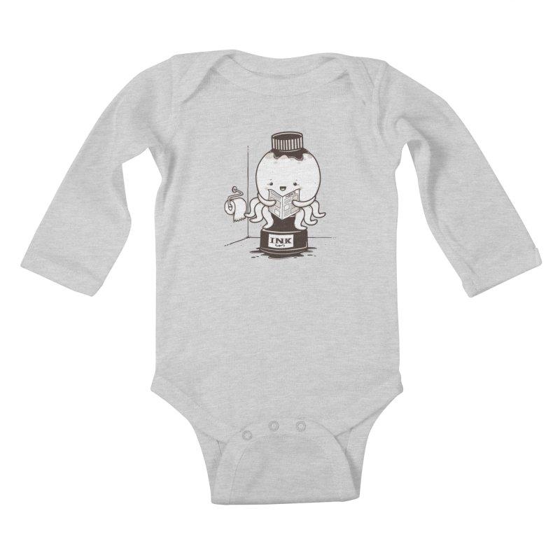 Ink Refill Kids Baby Longsleeve Bodysuit by roborat's Artist Shop