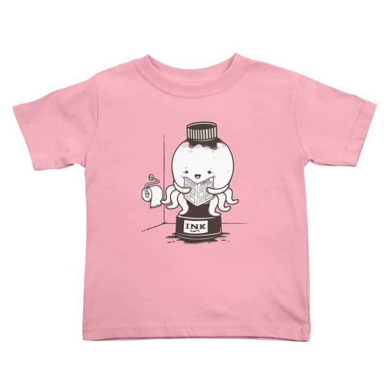 Ink Refill Kids Toddler T-Shirt by roborat's Artist Shop