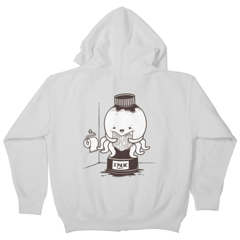 Ink Refill Kids Zip-Up Hoody by roborat's Artist Shop