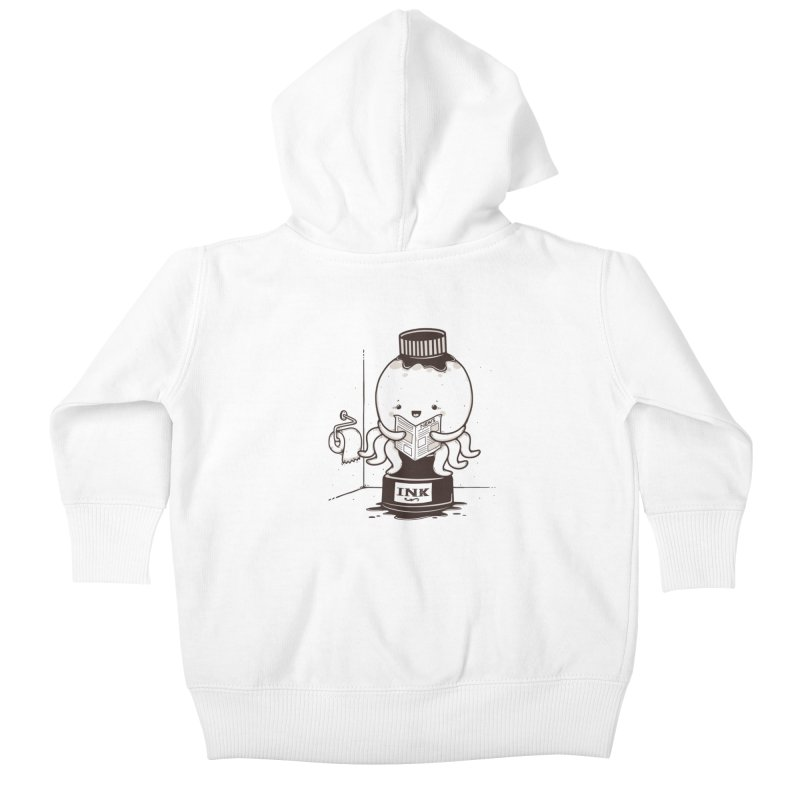 Ink Refill Kids Baby Zip-Up Hoody by roborat's Artist Shop
