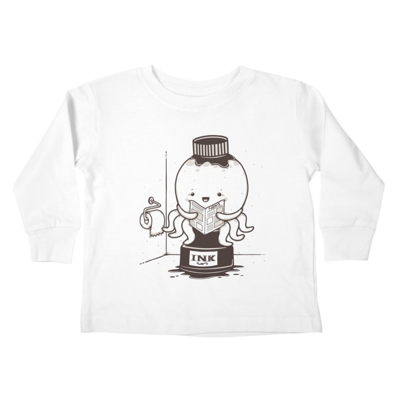 Ink Refill Kids Toddler Longsleeve T-Shirt by roborat's Artist Shop