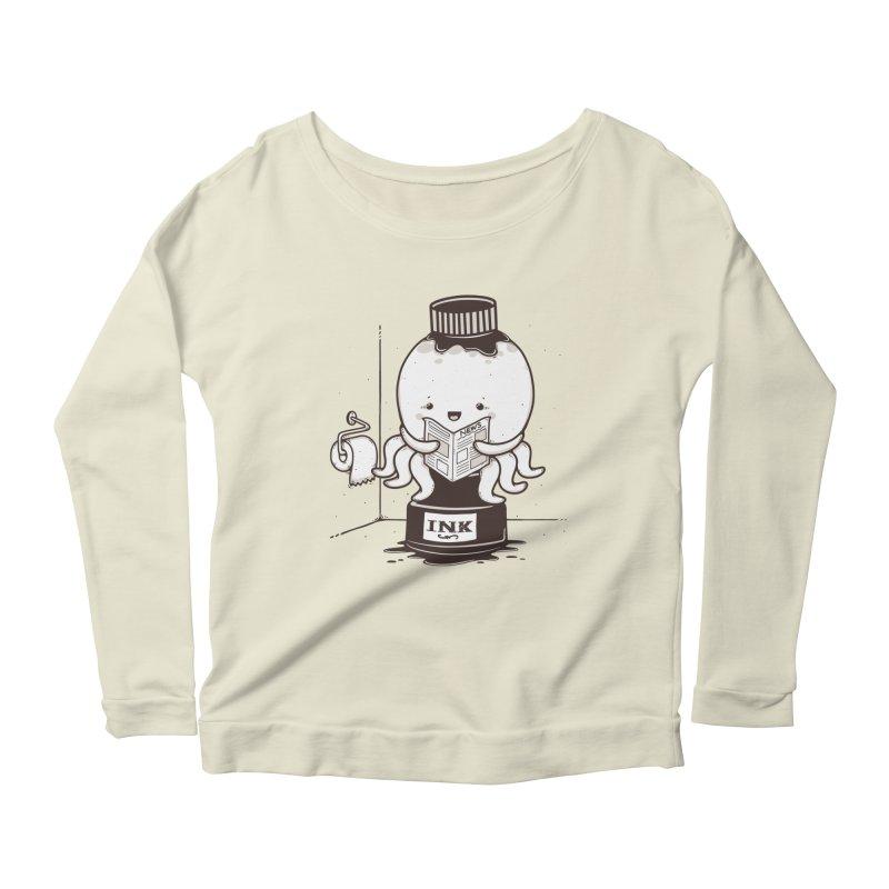 Ink Refill Women's Scoop Neck Longsleeve T-Shirt by roborat's Artist Shop