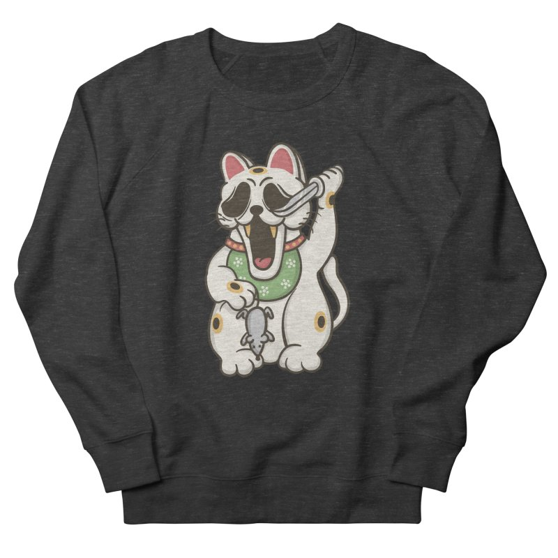 Bad Luck Men's French Terry Sweatshirt by roborat's Artist Shop
