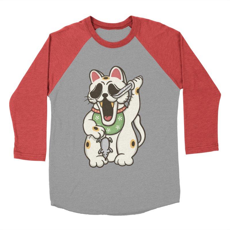 Bad Luck Women's Baseball Triblend T-Shirt by roborat's Artist Shop