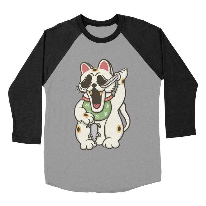 Bad Luck Men's Baseball Triblend T-Shirt by roborat's Artist Shop