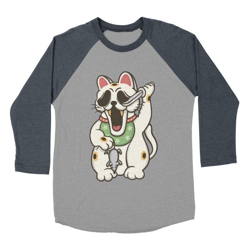 Bad Luck Men's Baseball Triblend Longsleeve T-Shirt by roborat's Artist Shop