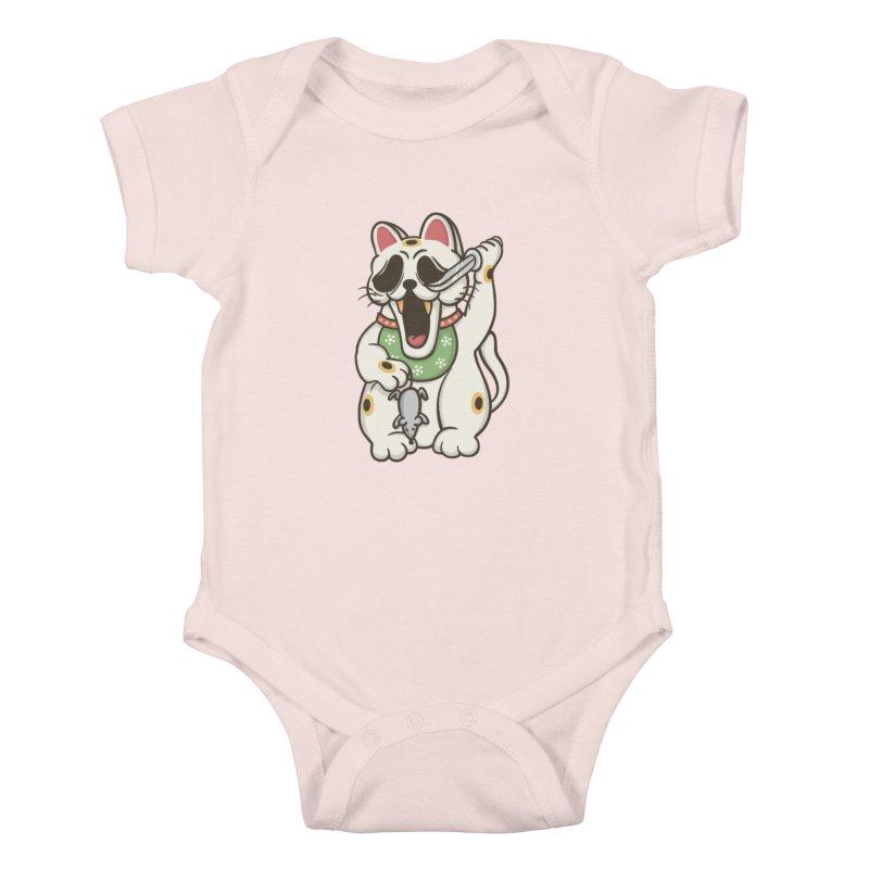 Bad Luck Kids Baby Bodysuit by roborat's Artist Shop
