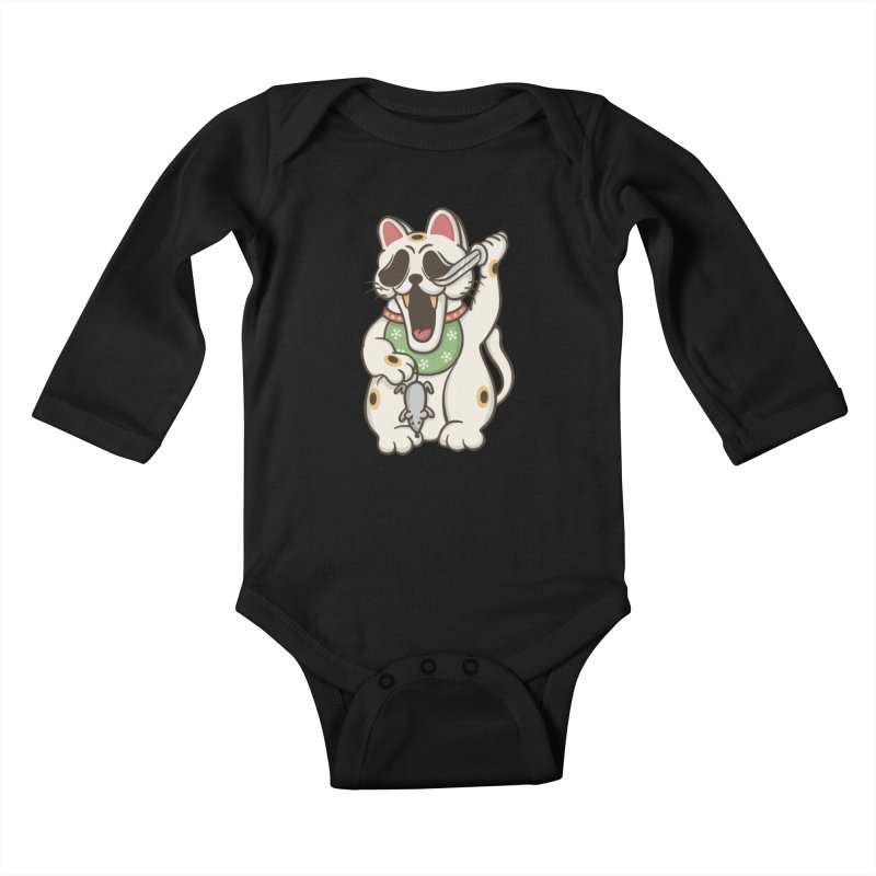 Bad Luck Kids Baby Longsleeve Bodysuit by roborat's Artist Shop