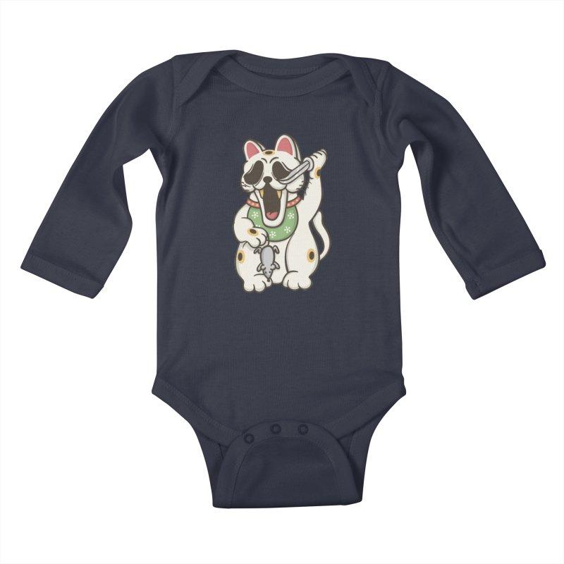 Bad Luck Kids Baby Longsleeve Bodysuit by roborat's Artist Shop