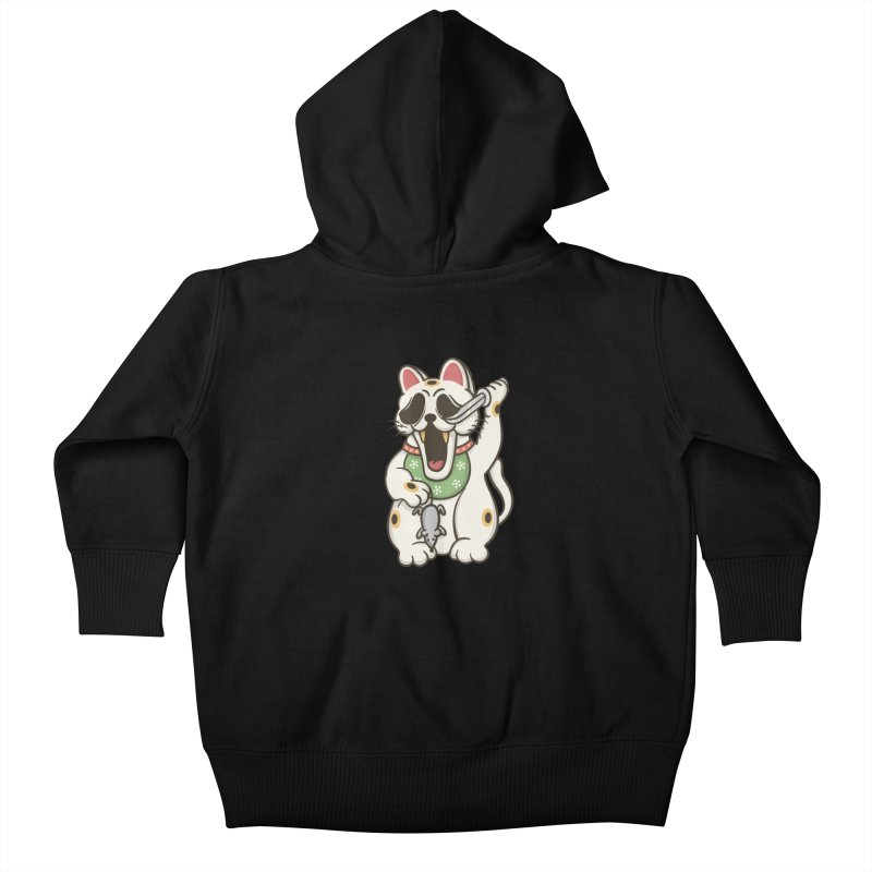 Bad Luck Kids Baby Zip-Up Hoody by roborat's Artist Shop