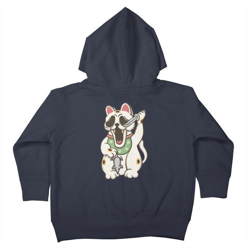 Bad Luck Kids Toddler Zip-Up Hoody by roborat's Artist Shop