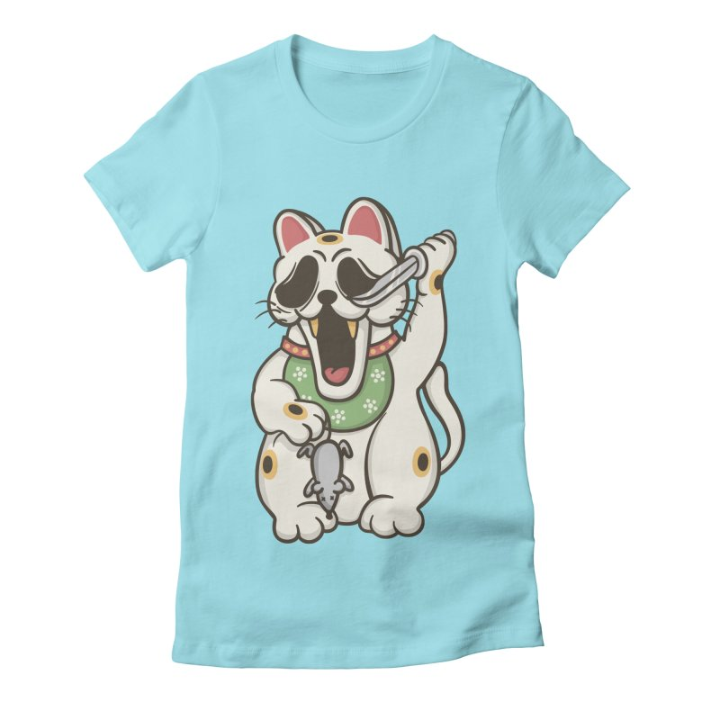 Bad Luck Women's Fitted T-Shirt by roborat's Artist Shop