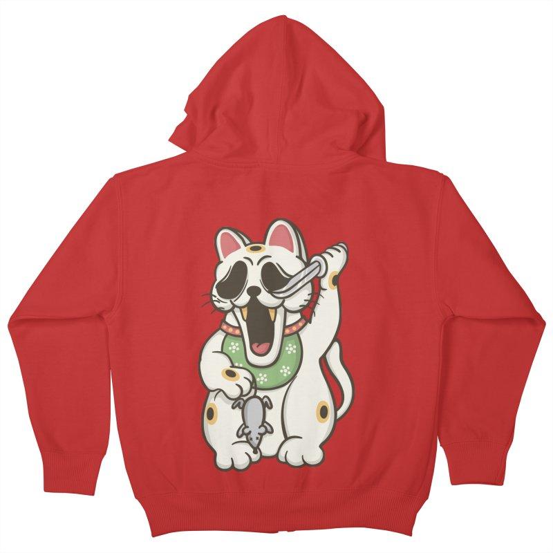 Bad Luck Kids Zip-Up Hoody by roborat's Artist Shop