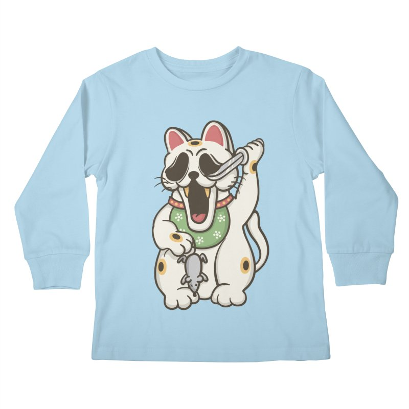Bad Luck Kids Longsleeve T-Shirt by roborat's Artist Shop