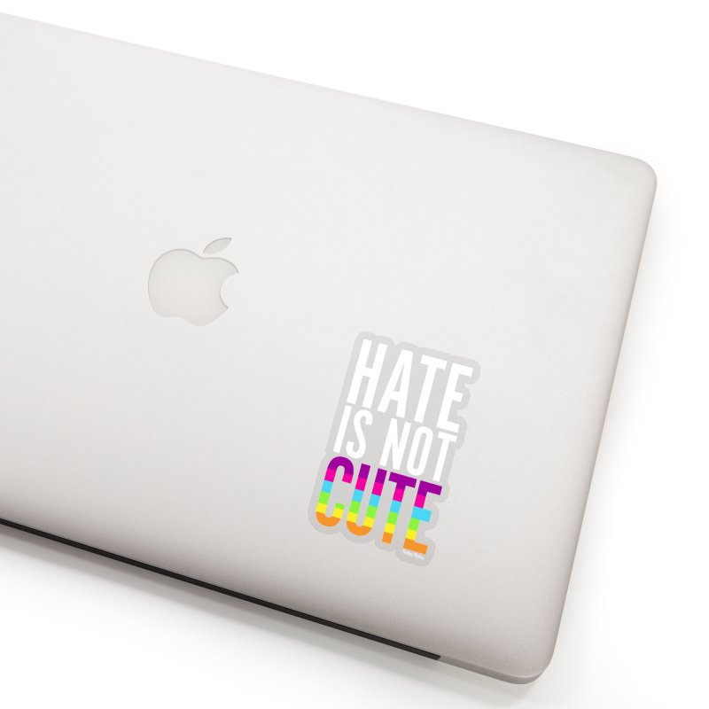 Hate Is Not Cute Accessories Sticker by Robo Roku